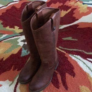 Frye Melissa lug tall boot Cognac NWT